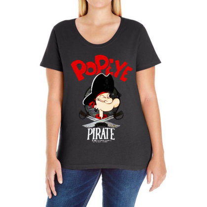 Goes Pirate Ladies Curvy T-shirt Designed By Pinkanzee