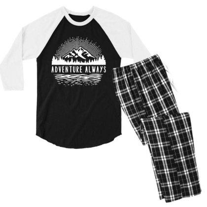 Outdoors Men's 3/4 Sleeve Pajama Set Designed By Pinkanzee