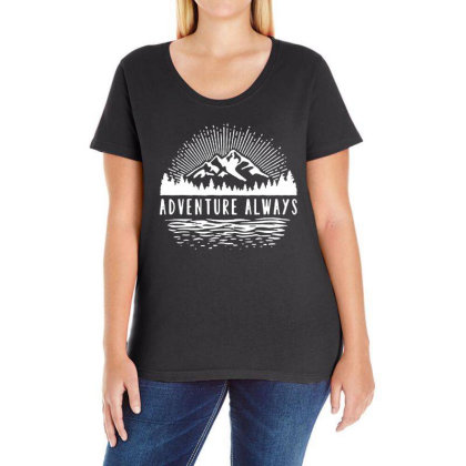 Outdoors Ladies Curvy T-shirt Designed By Pinkanzee