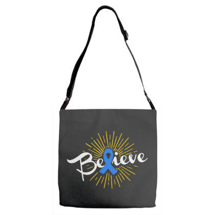 Believe Adjustable Strap Totes Designed By Pinkanzee