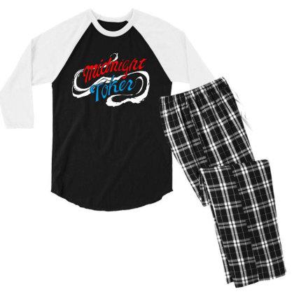 Midnight Men's 3/4 Sleeve Pajama Set Designed By Pinkanzee