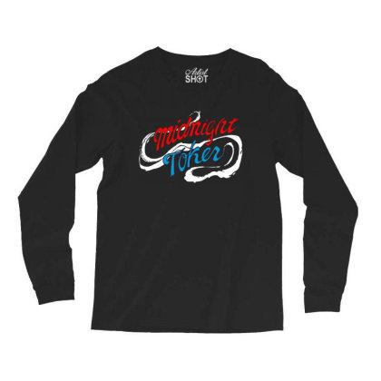 Midnight Long Sleeve Shirts Designed By Pinkanzee