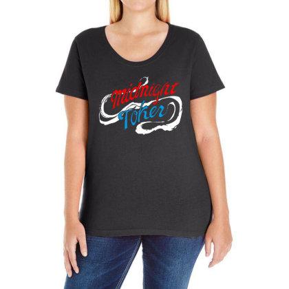 Midnight Ladies Curvy T-shirt Designed By Pinkanzee