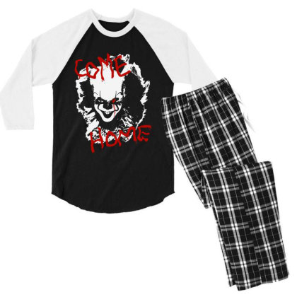 Two Come Home Men's 3/4 Sleeve Pajama Set Designed By Pinkanzee