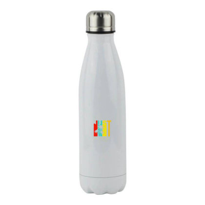 Just Be Cool Vintage Stainless Steel Water Bottle Designed By Pinkanzee