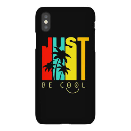 Just Be Cool Vintage Iphonex Case Designed By Pinkanzee