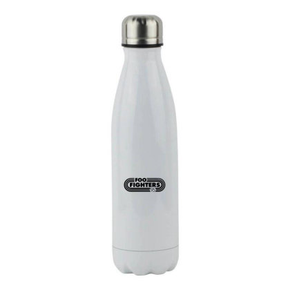 Foo Black Style Stainless Steel Water Bottle Designed By Pinkanzee
