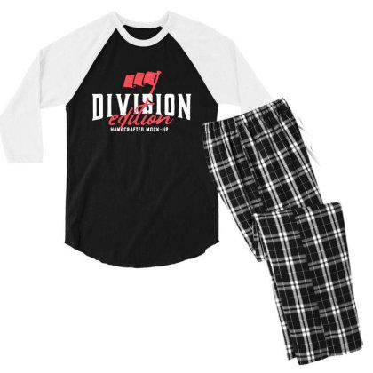 Division Men's 3/4 Sleeve Pajama Set Designed By Pinkanzee
