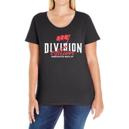 Division Ladies Curvy T-shirt Designed By Pinkanzee