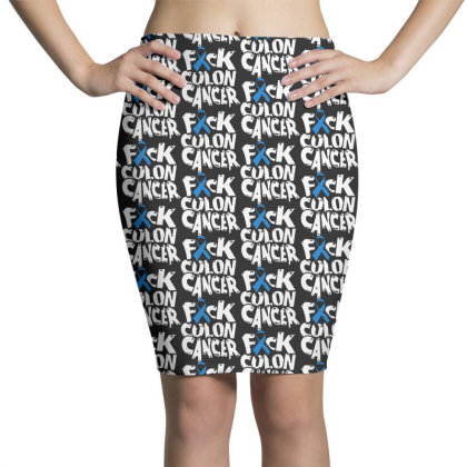 Colon Cancer Pencil Skirts Designed By Pinkanzee
