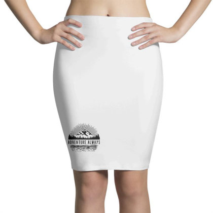 Adventure Always Pencil Skirts Designed By Pinkanzee