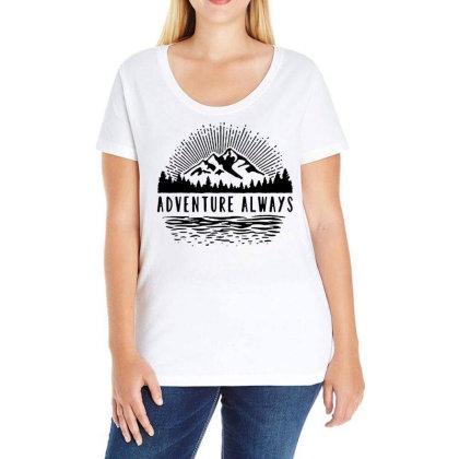 Adventure Always Ladies Curvy T-shirt Designed By Pinkanzee