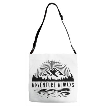 Adventure Always Adjustable Strap Totes Designed By Pinkanzee