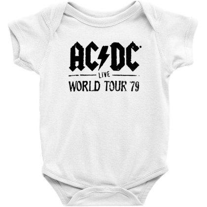 Acdc World Tour Baby Bodysuit Designed By Pinkanzee