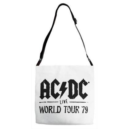 Acdc World Tour Adjustable Strap Totes Designed By Pinkanzee