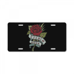 Stereo Rock, Rose License Plate | Artistshot