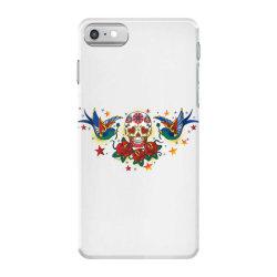 Skull, Birds, Rose iPhone 7 Case | Artistshot