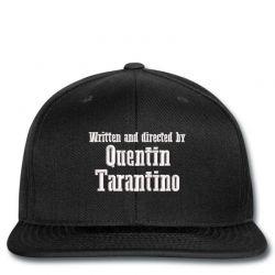 Quentin Tarantino embroidered hat Snapback   Artistshot