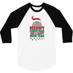 Meowy Christmas 3/4 Sleeve Shirt | Artistshot
