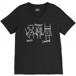 Daddy - Mommy - Chappie V-Neck Tee   Artistshot