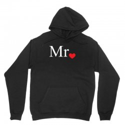 Mr with heart dot (Mr and Mrs set) Unisex Hoodie   Artistshot