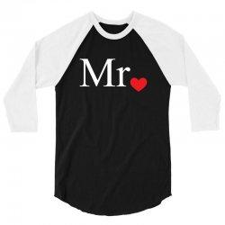 Mr with heart dot (Mr and Mrs set) 3/4 Sleeve Shirt   Artistshot