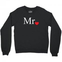 Mr with heart dot (Mr and Mrs set) Crewneck Sweatshirt   Artistshot