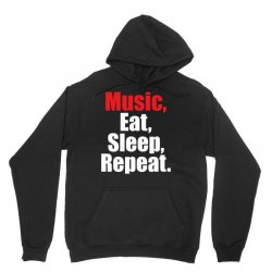 Music Eat Sleep Repeat Unisex Hoodie | Artistshot