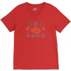 My Awesome Christmas T-Shirt V-Neck Tee | Artistshot