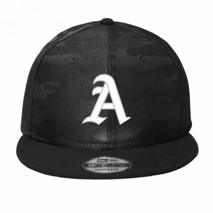 Old English Style Initial Letter A Embroidered Hat Camo Snapback Designed By Madhatter