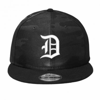 Old English Style Initial Letter D Embroidered Hat Camo Snapback Designed By Madhatter