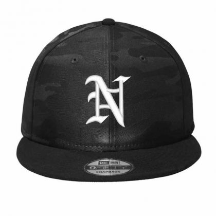 Old English Style Initial Letter N Embroidered Hat Camo Snapback Designed By Madhatter