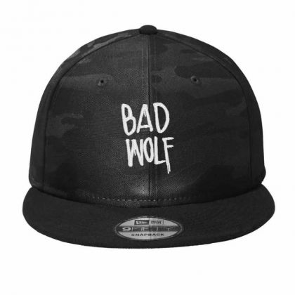 Bad Wolf Embroidered Hat Camo Snapback Designed By Madhatter