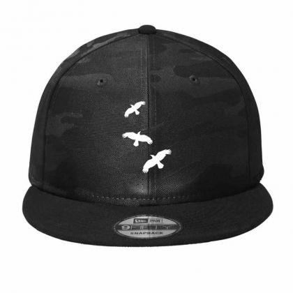 1 Color   Raven Mystical Crows Flying Birds Copy Camo Snapback Designed By Madhatter