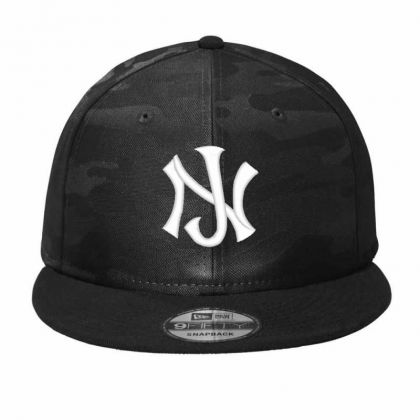 New Jersey Logo Embroidery Embroidered Hat Camo Snapback Designed By Madhatter