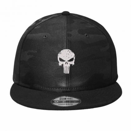 The Punisher Skul Embroidery Embroidered Hat Camo Snapback Designed By Madhatter