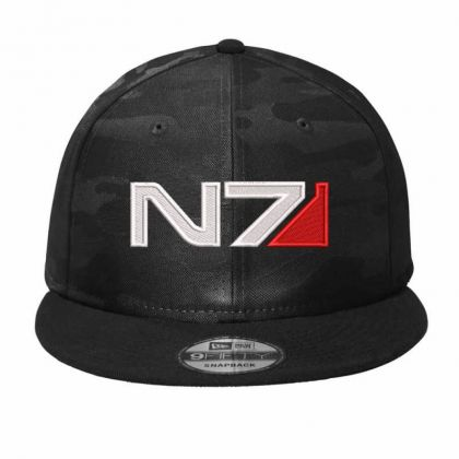 Mass Effect N7 Logo Embroidered Hat Camo Snapback Designed By Madhatter