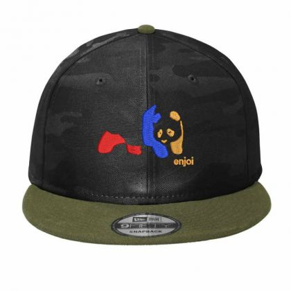 Panda Enjoi Embroidered Hat Camo Snapback Designed By Madhatter