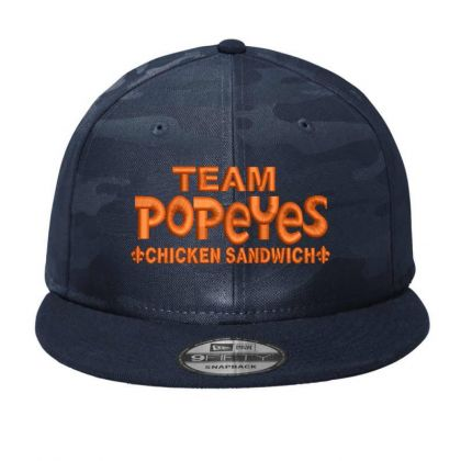 Team Popeyes Embroidered Hat Camo Snapback Designed By Madhatter