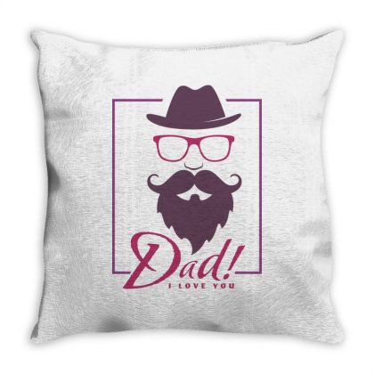 Dad, I Love You Throw Pillow Designed By Estore