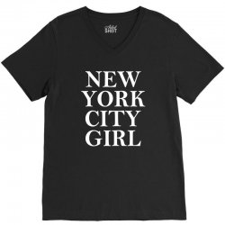 New York City Girl V-Neck Tee | Artistshot