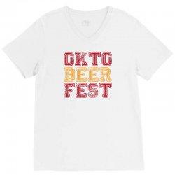 OktoBeerFest V-Neck Tee   Artistshot