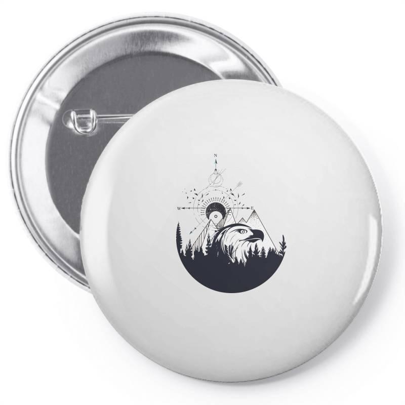 Eagle Pin-back Button   Artistshot