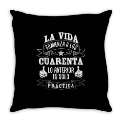 La Vida comienza a los Throw Pillow | Artistshot