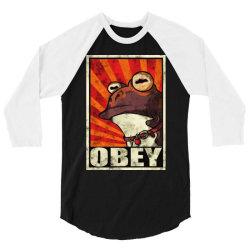 obey the hypnotoad 3/4 Sleeve Shirt | Artistshot