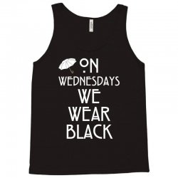 On Wednesdays We Wear Black Tank Top | Artistshot