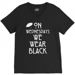 On Wednesdays We Wear Black V-Neck Tee | Artistshot