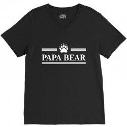 Papa Bear V-Neck Tee | Artistshot