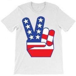 Peace Sign Hand T-Shirt | Artistshot