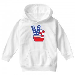 Peace Sign Hand Youth Hoodie | Artistshot